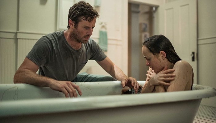 Will and Carrie in bathtub scene in Wounds 2019