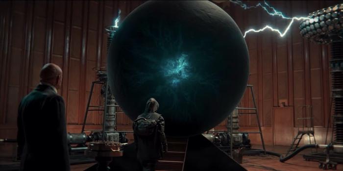 Jonas and Adam standing by a Higgs field in Dark season 2