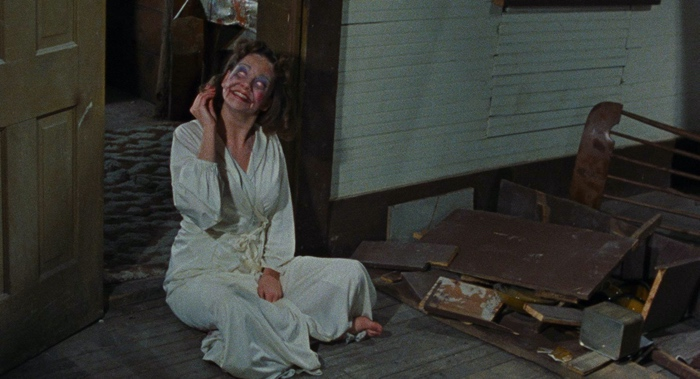 a possessed Linda in The Evil Dead 1981