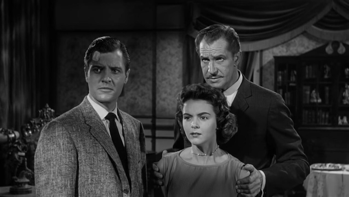 Lance, Nora and Frederick Loren in House on Haunted Hill 1959