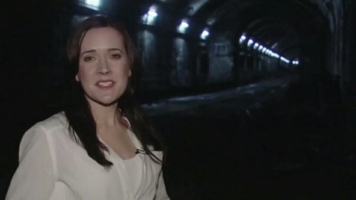 Natasha in the tunnels below Sydney in The Tunnel 2011