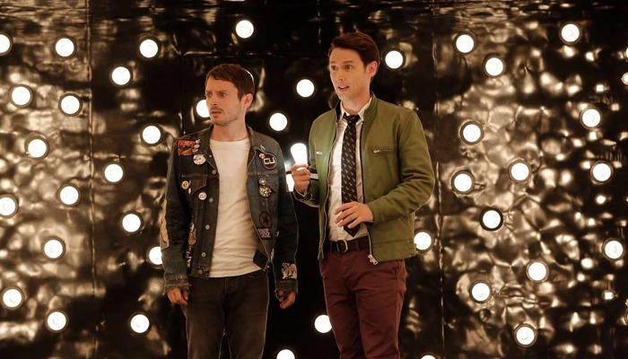 Dirk and Todd in Patrick's deathmaze in Dirk Gently's Holistic Detective Agency season 1