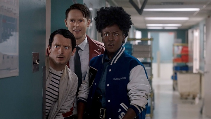 Todd, Dirk and Farah in Dirk Gently's Holistic Detective Agency season 2