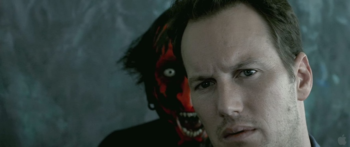 Josh Lambert and the Lipstick-Face demon in Insidious 2010