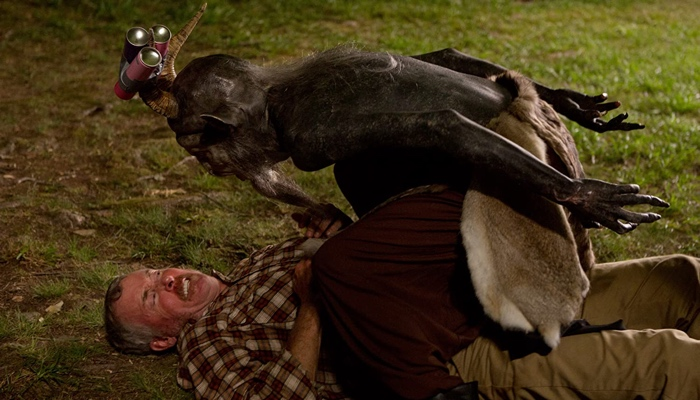 Stan attacked by Baphomet in Stan Against Evil season 1