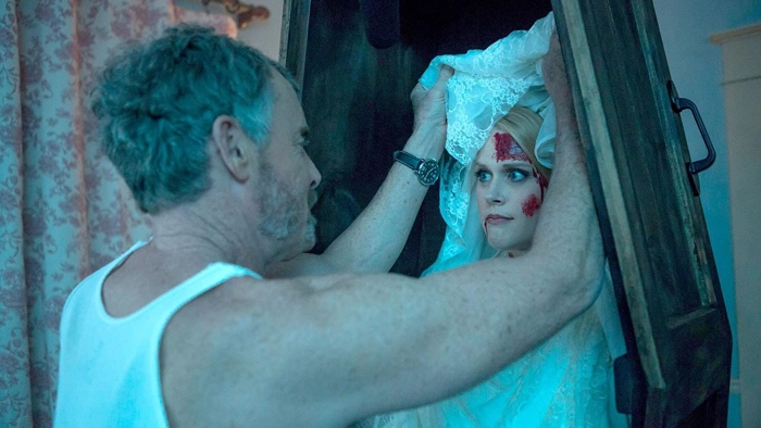 Stan dreams about Evie in a coffin in Stan Against Evil season 2