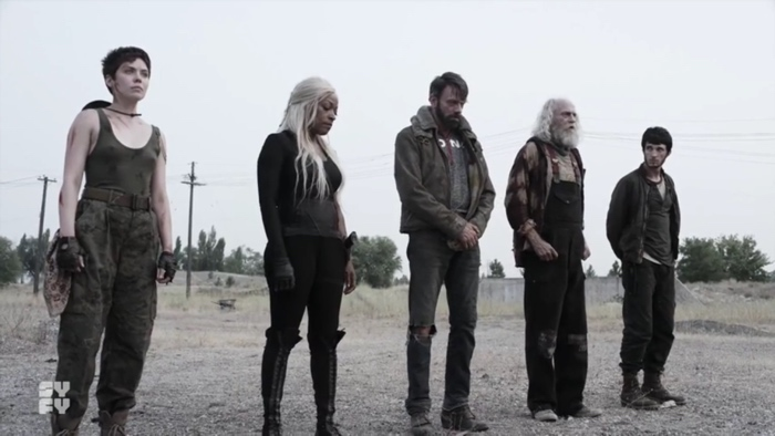 Sarge, Warren, Murphy, Doc and 10K in Z Nation season 4
