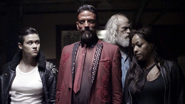 George, Murphy, Doc and Warren in club Limbo in Z Nation season 5