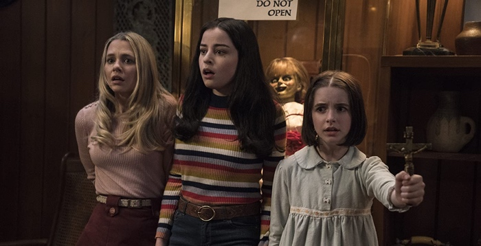 Mary Ellen, Danielle and Judy scared in Annabelle Comes Home 2019
