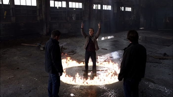 Sam and Dean captured Gabriel with holy fire in Supernatural season 5