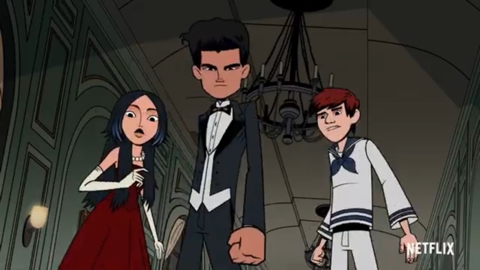 Mira, Adam and Kai in The Hollow season 2