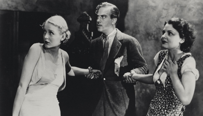 Margaret, Penderel and Gladys frightened in The Old Dark House 1932