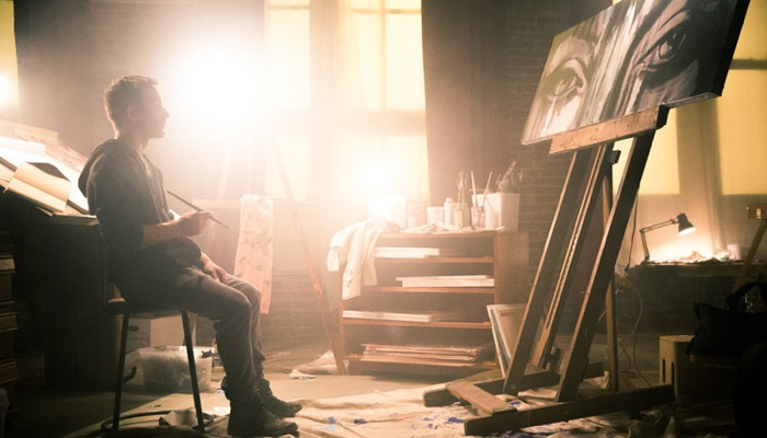Adam staring at his painting in Legend of the Muse 2020