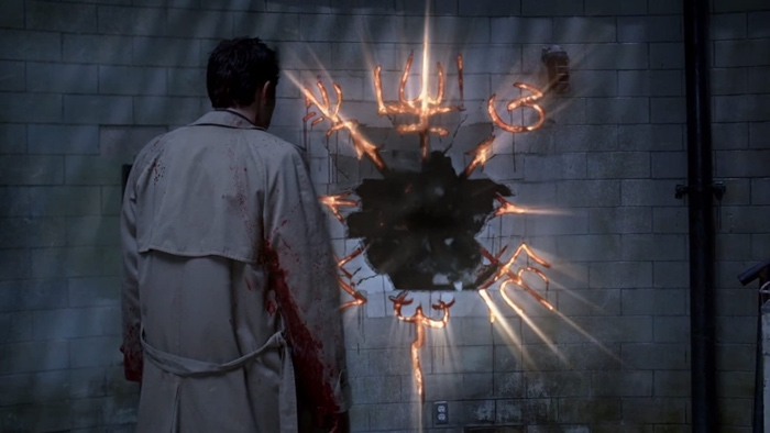 Cass opens the gate to Purgatory in Supernatural season 7