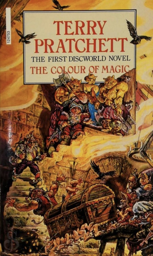 book cover The Colour of Magic by Terry Pratchett 1983