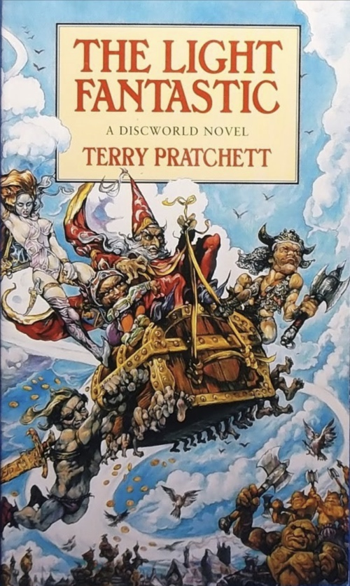book cover The Light Fantastic by Terry Pratchett 1986