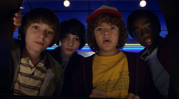 Will, Mike, Dustin and Lucas in Stranger Things season 2