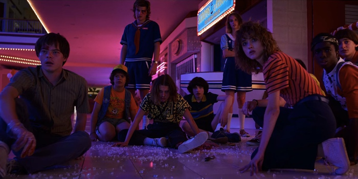 The big epic fight in the Starcourt Mall in Stranger Things season 3