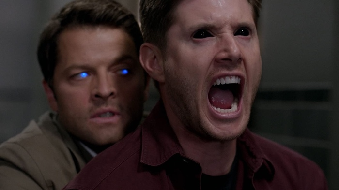Cass the angel and Dean the demon in Supernatural season 10