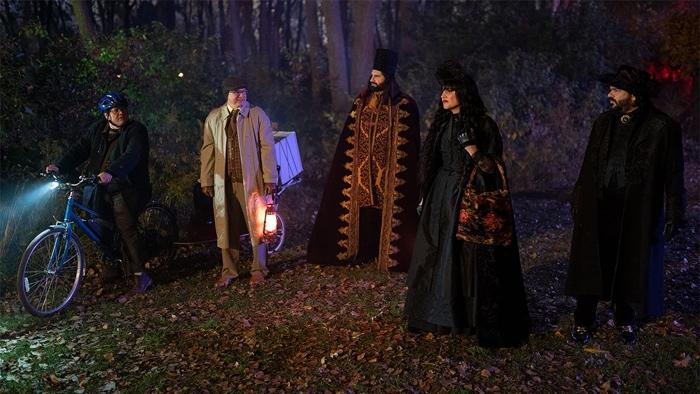 Guillermo, colín, Nandor, Nadja and Laszlo in What We Do in the Shadows season 2