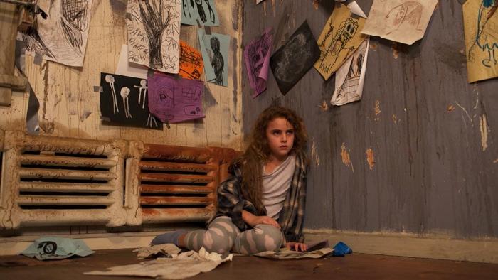 Chloe in her room full of drawings in Freaks 2018