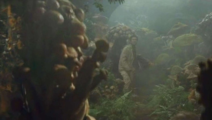 Kenji Murai amidst the Mushroom people in Matango 1963