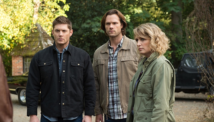 Dean, Sam and Mary Winchester in Supernatural season 12