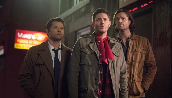 Castiel, Dean and Sam in Supernatural season 13