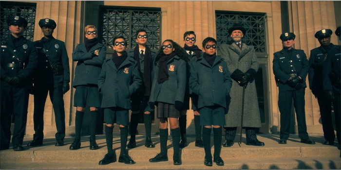 Young Umbrella Academy in The Umbrella Academy season 1