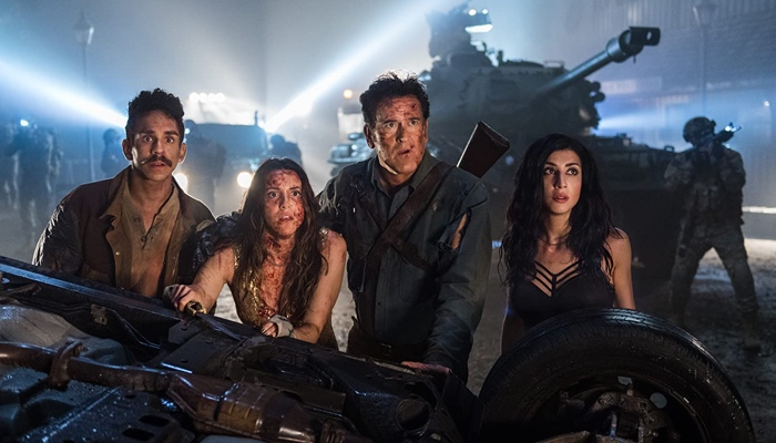 Pablo, Brandy, Ash and Kelly in Ash vs Evil Dead season 3