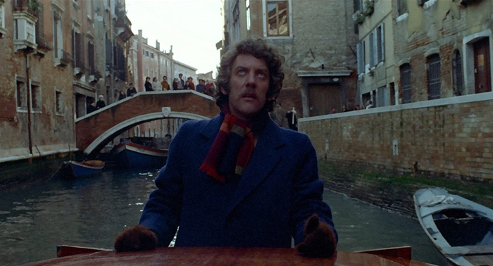 John Baxter on a gondola in Venice in Don't Look Now 1973