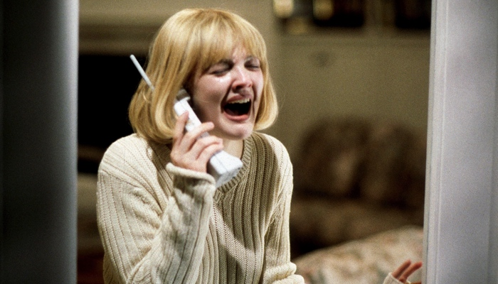 Casey Becker on the phone with the killer in Scream 1996
