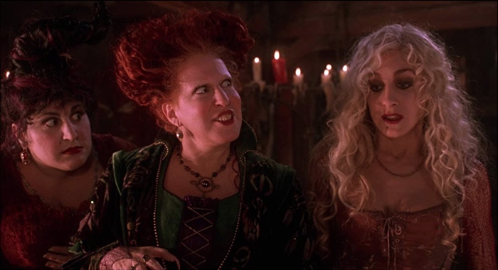 Mary, Winifred and Sarah Sanderson in Hocus Pocus 1993