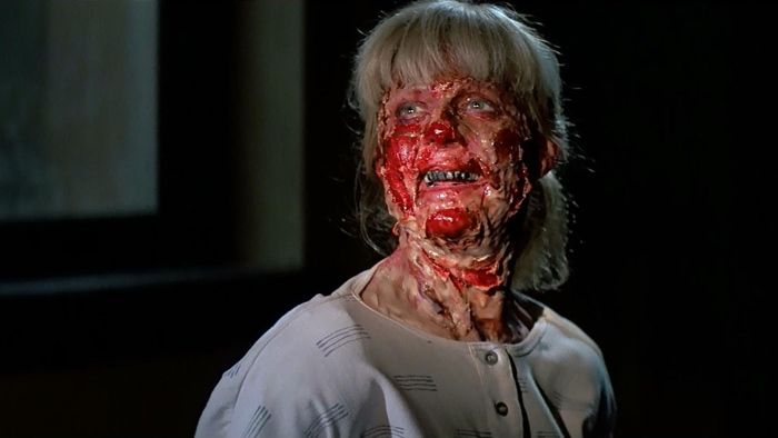 Kelly infected by green liquid in Prince of Darkness 1987