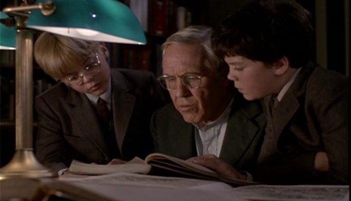 Will, Charles and Jim in the library in Something Wicked This Way Comes 1983