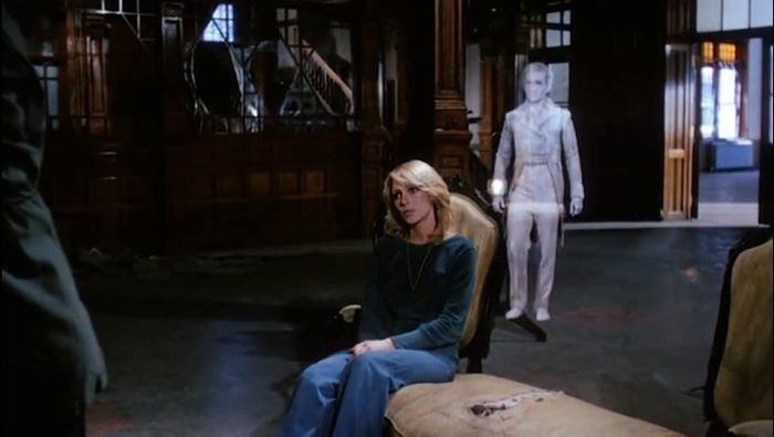 Caroline and the ghost in The Evil 1978