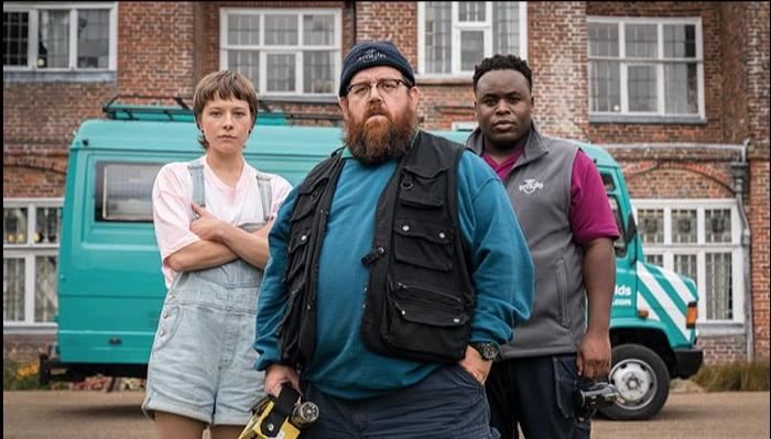 Astrid, Gus and Elton in Truth Seekers season 1