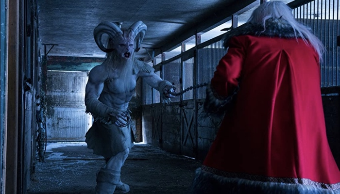 Krampus and Santa fighting in A Christmas Horror Story 2015