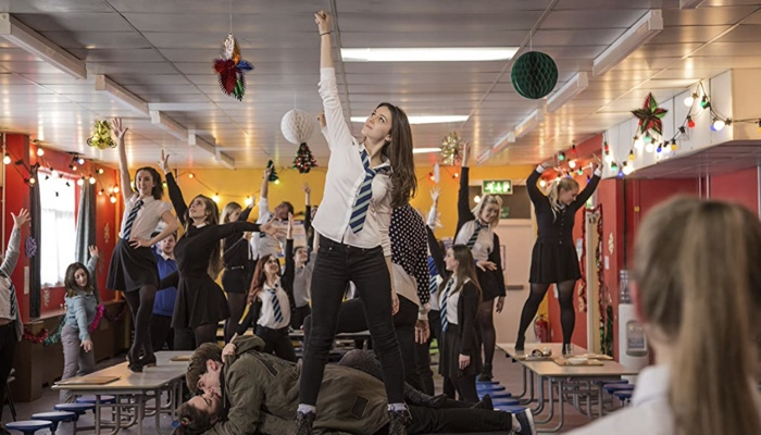 Dancing Anna in classroom in Anna and the Apocalypse 2017