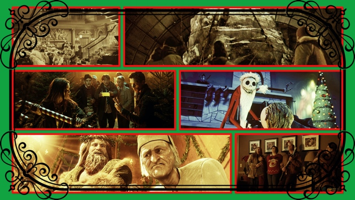 Christmas horror movies collage