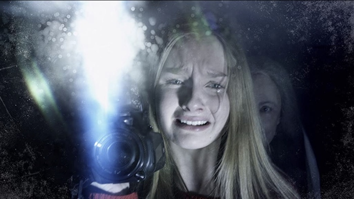 Scared Becca and scary Nana in The Visit 2015